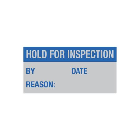 Maintenance Decal - Hold For Inspection By/Date/Reason 1 x 2