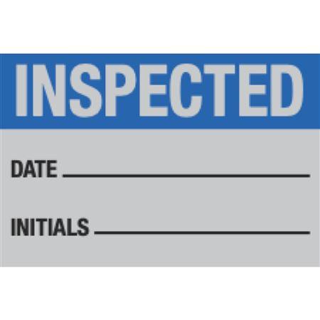 Indentable Aluminum Calibration Labels - Inspected Date/Initials/ 1.5 x 1