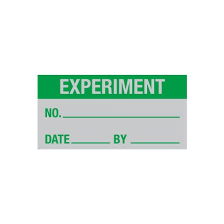 All Weather Calibration Decals (Miscellaneous) - Experiment No./ Date/ By - 1 x 2
