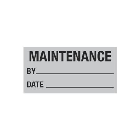 All Weather Calibration Decals (Maintenance) - Maintenance By/Date - 1 x 2
