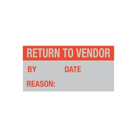 All Weather Calibration Decals (QualityControl) - Return To Vendor By/Date - Reason - 1 x 2