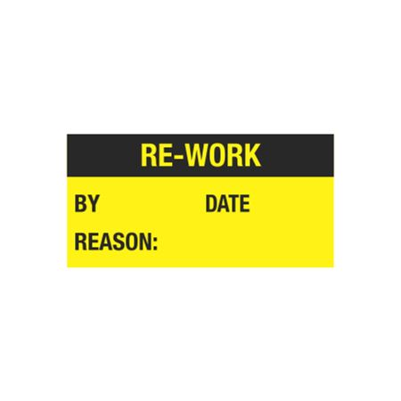 All Weather Calibration Decals (Maintenance) - Re-Work By/Date - Reason - 1 x 2