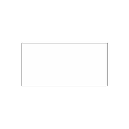Misc. Decals - Blank White - 1 x 2