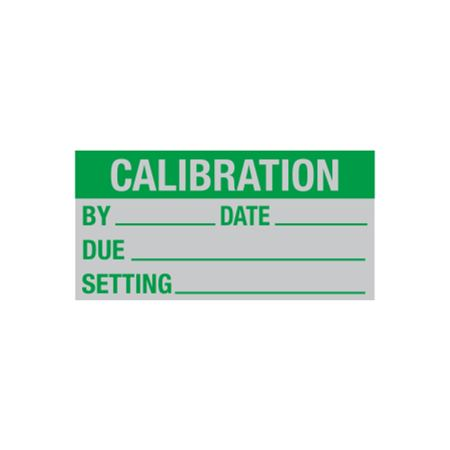 All Weather Calibration By/Due/Setting Decal - 1 x 2 in.