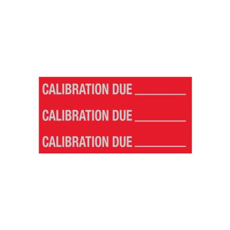 All Weather Calibration Due Decal - 1 x 2