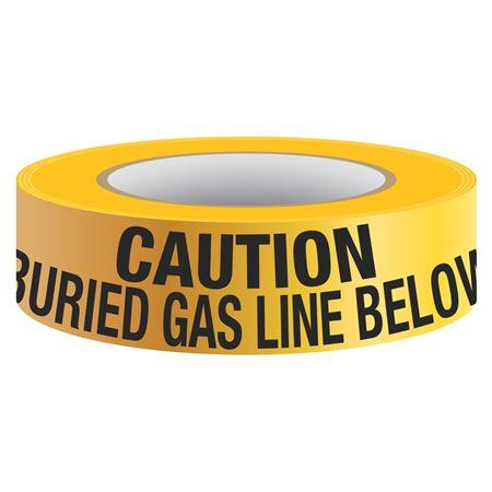 Underground Tape - Non-Detectable - Buried Gas Line Below