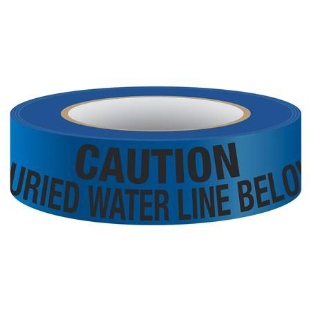 Underground Tape - Non-Detectable - Buried Water Line Below