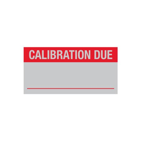 Quality Control Labels - Calibration Due - 1 x 2