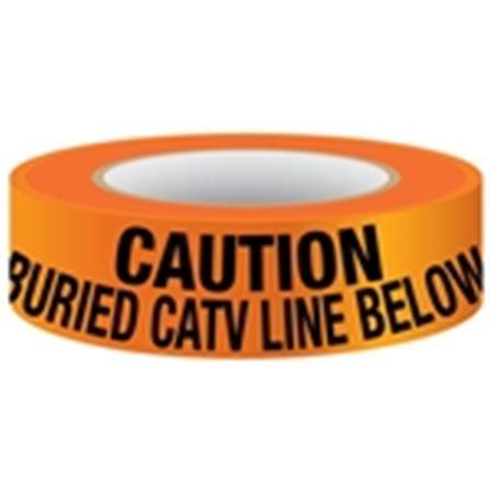 Underground Tape - Non-Detectable - Buried CATV Line Below