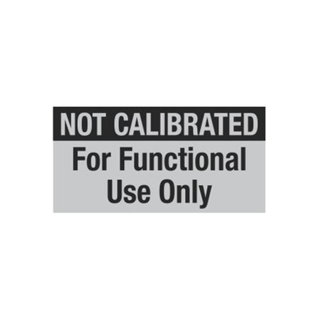 All Weather For Functional Use Only Decal - 1 x 2 in.