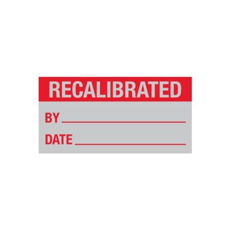 Quality Control Labels - Recalibrated By/Date - 1 x 2
