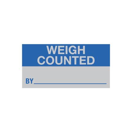 All Weather Calibration Decals (Inventory) - Weigh Counted By - 1 x 2