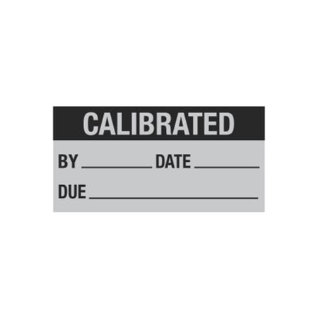 Calibration Decal - Calibrated By/Date/Due - 1 x 2