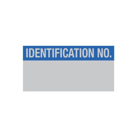 Inventory Decal - Identification No. - 1 x 2
