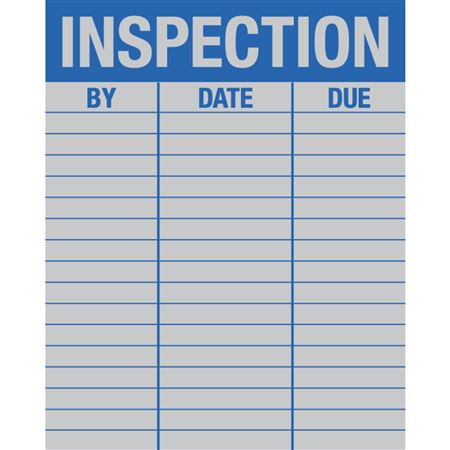 Service Record Decals - Inspection 4 x 5