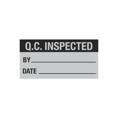 All Weather Calibration Decals (QualityControl) - Q.C. Inspected By_____ Date_____ 1 x 2