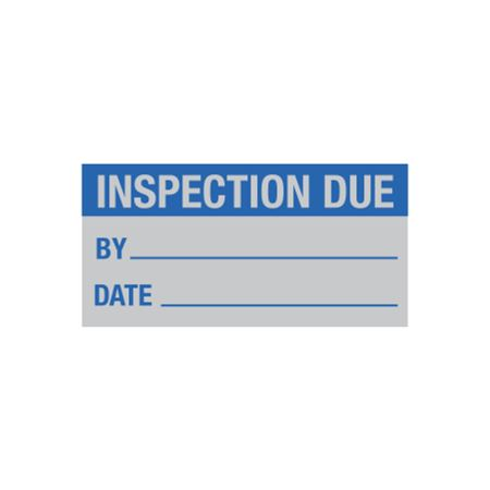 All Weather Calibration Decals (QualityControl) - Inspection Due By_____ Date_____ 1 x 2