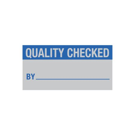 All Weather Calibration Decals (QualityControl) - Quality Checked By_____ 1 x 2