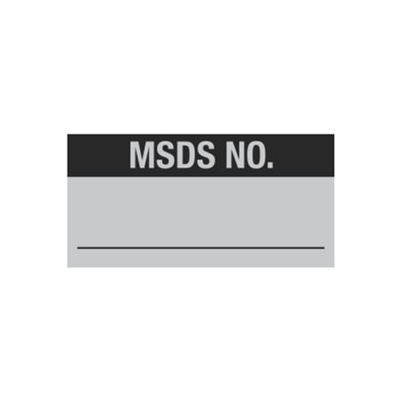 All Weather Calibration Decals (Miscellaneous) - MSDS No. 1 x 2