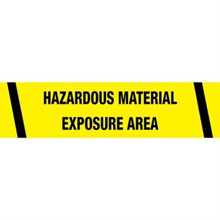 Hazardous Material Exposure Area Tape