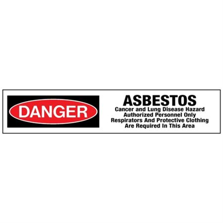 Danger Asbestos/Authorized Personnel Only Tape
