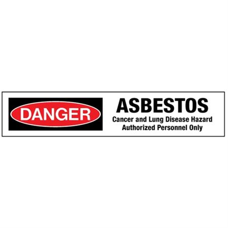 Danger Asbestos Cancer a … zed Personnel Only Tape