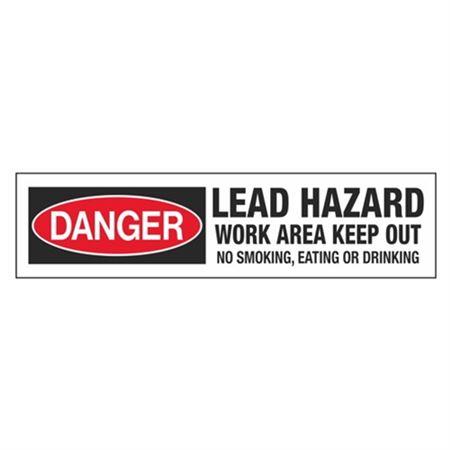 Danger Lead Hazard Tape
