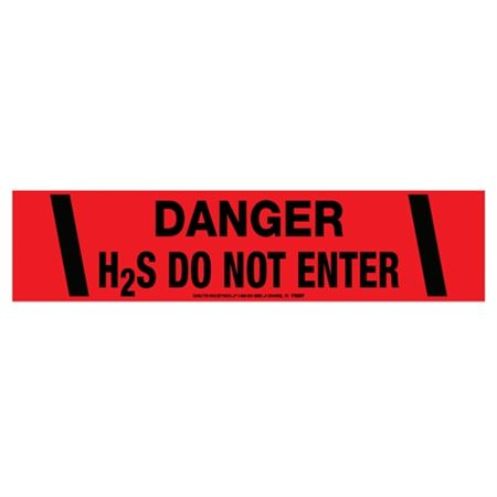 Danger H2S Do Not Enter Tape