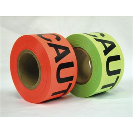 "Bright Glow Barricade Tape - 3"" x 500'"