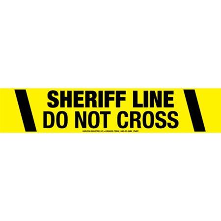 Sheriff Line Do Not Cross Tape