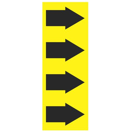 """Pipe Markers - 4"""" x 30 yd Roll - Yellow Arrow"""