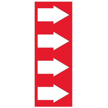 Pipe Markers -4 inch x 30 yard Roll - Red Arrow