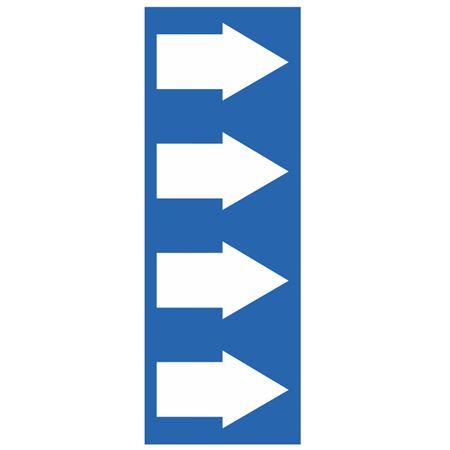 "Pipe Markers - 4"" x 30 yd Roll - Blue Arrow"