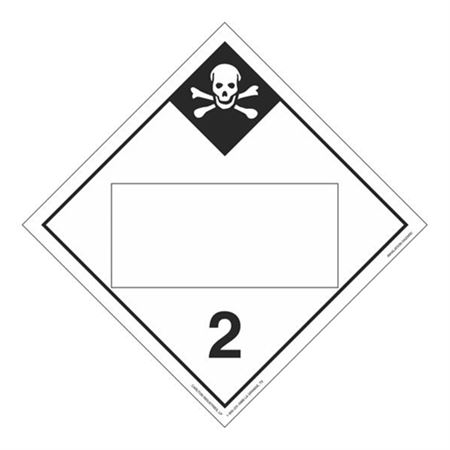 Class 2 - Inhalation Hazard Blank - Tagboard 10 3/4 x 10 3/4