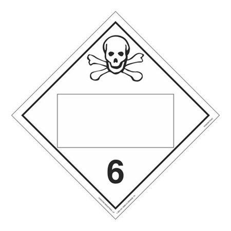 Class 6 - Toxic / Poison Blank - Tagboard 10 3/4 x 10 3/4