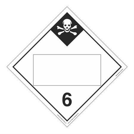 Class 6 - Inhalation Hazard Blank - Tagboard 10 3/4 x 10 3/4
