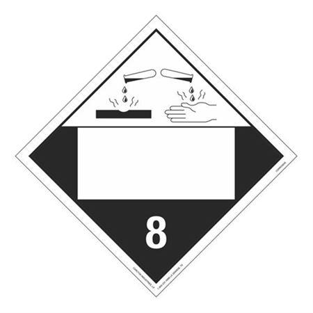 Class 8 - Corrosive Blank - Tagboard 10 3/4 x 10 3/4