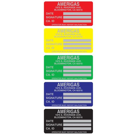 Custom Printed All Weather Decals - Custom Printed-One Color .875 x 1.75