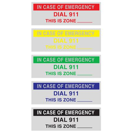 Custom Printed All Weather Decals - Custom Printed-One Color .75 x 2.5