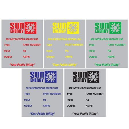 Custom Printed All Weather Decals - Custom Printed-Two Color .5 x 1.75