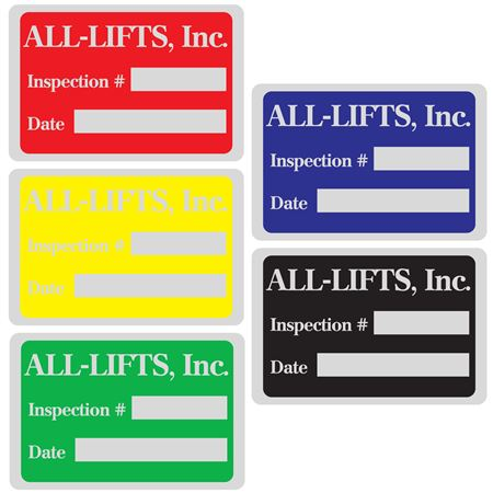 Custom Printed All Weather Decals - Custom Printed-One Color 1 x 1.5