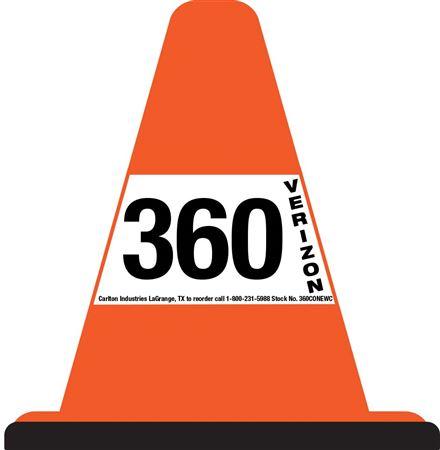 360 Custom Walk Around Safety Cone - White Sleeve