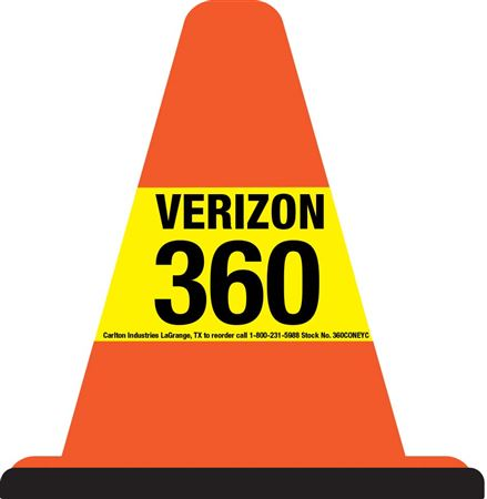 360 Custom Walk Around Safety Cone - Yellow Sleeve