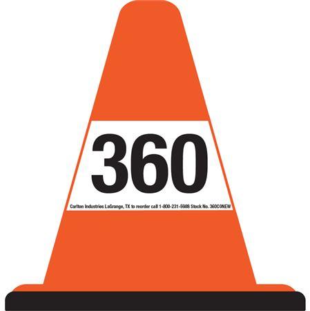 360 Walk Around Safety Cone - White Sleeve