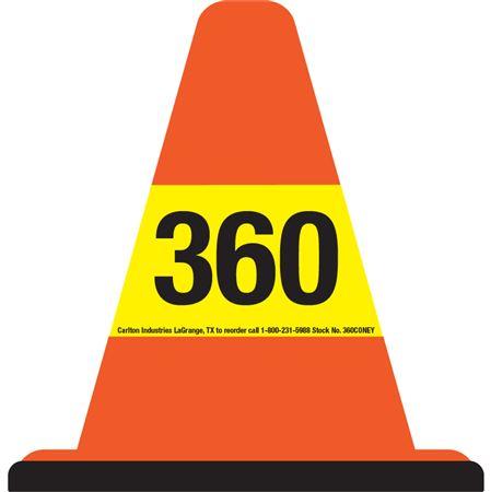 360 Walk Around Safety Cone - Yellow Sleeve