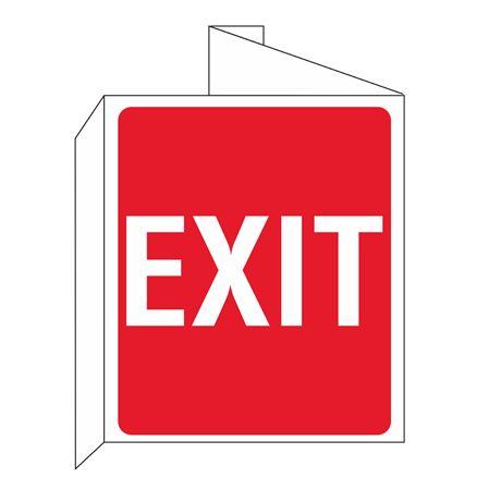 3D Exit Wall Sign 8x14