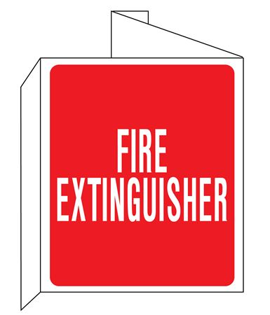 3D Fire Extinguisher Wall Sign 8x14