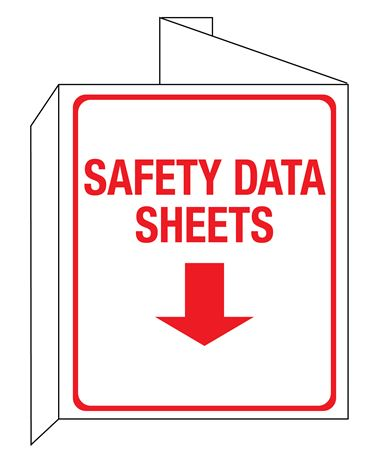 3D SDS Safety Data Sheets Wall Sign 8x14