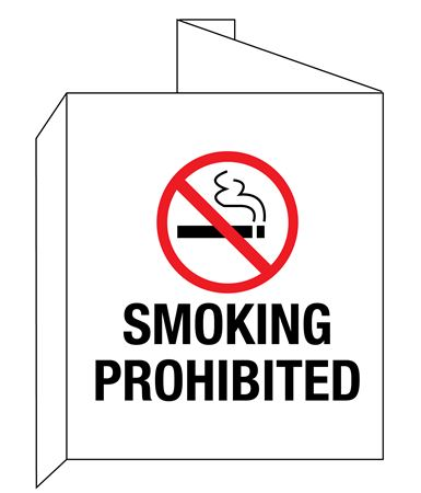 3D Smoking Prohibited with graphic Wall Sign 8x14
