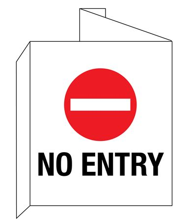 3D No Entry with Symbol Wall Sign 8x14